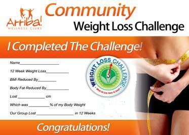 Join the Arriba! Weight Loss Challenge